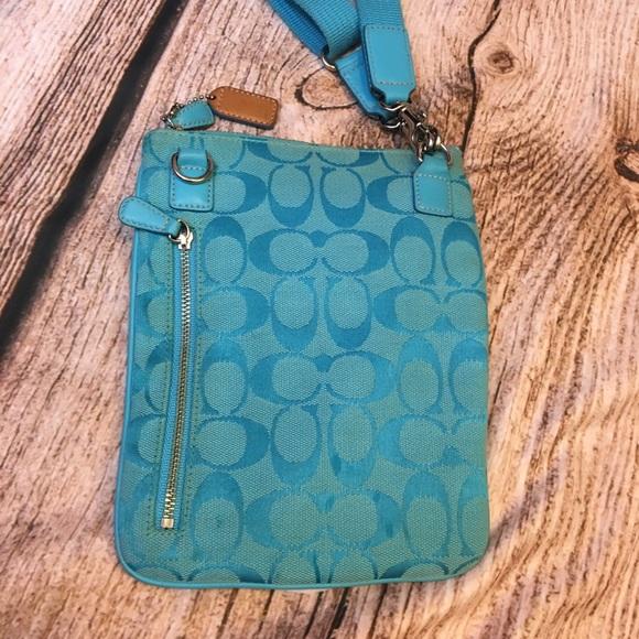 Coach Handbags - Coach Blue Canvas Original Cross Body